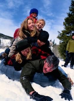 Familienskireisen in die Schweiz