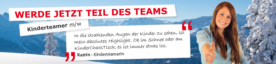 Kinderteamer bei Aktives Reisen