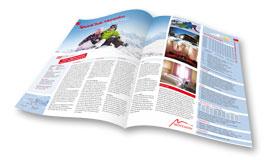 Der Aktives Reisen Katalog für Ski- und Snowboardreisen