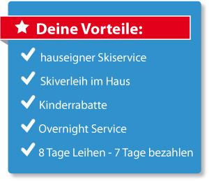 Deine Vorteile - Skiverleih und Skiservice im SportClub