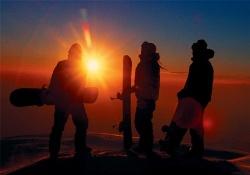 Snowboarden in den Ferien