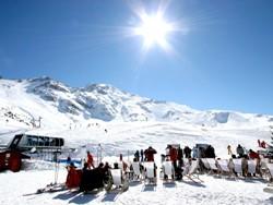 Das Skigebiet mit Plagne und Arc in Frankreich