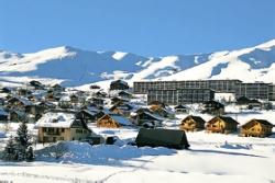 Der Wintersportort La Toussuire in Les Sybelles Frankreich