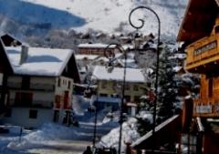 Blick auf den Ort St. Sorlin in Frankreich