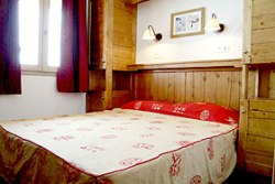 Wohnen im Skigebiet - Doppelzimmer im Appartement in Les Sybelles