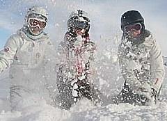 Schneespaß in Trois Vallees