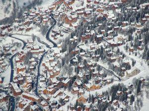 Blick auf Les Trois Valles