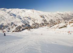 Snowboardfahren in Trois Vallees