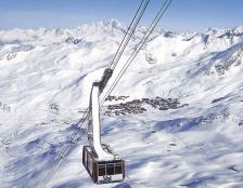Gondel Skigebiet Trois Vallees