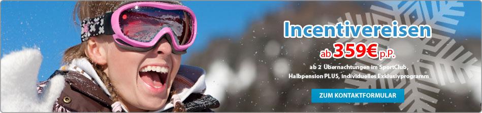 Incentivereisen - Skirlaub mit der ganzen Firma