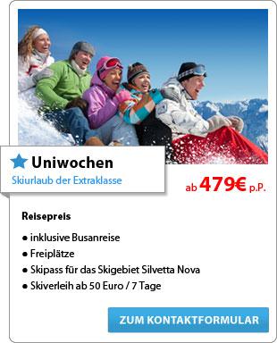 Uniwochen - Skiurlaub der Extraklasse