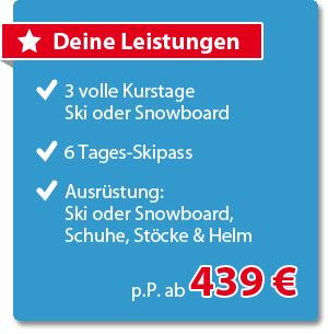 Learn to SKi Paket im SportClub Montafon