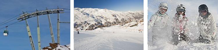 Skigebiet Les Trois Vallees