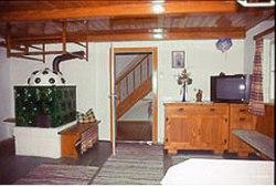 Ferienhaus in Leogang - Gruppenreise- Wohnraum mit Kamin