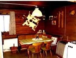 Wohnküche im Ferienhaus in Leogang