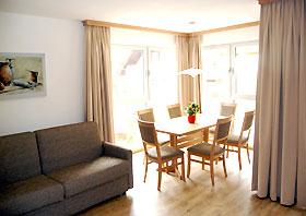 Wohnbereich Ferienhaus Alpenperle