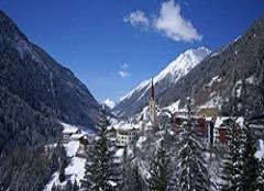 Der Ort Ischgl in Österreich