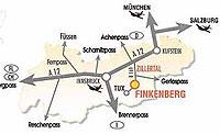 Lagebeschreibung Finkenberg im Zillertal
