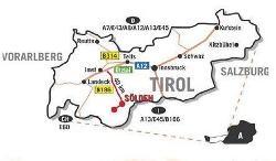 Die Lage des Ötztals in Tirol- weitere Infos unter Anreise