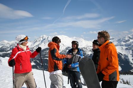 Gemeinsam Skifahren im Ötztal