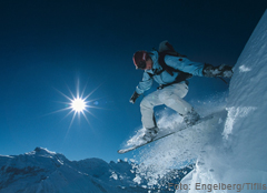 Snowboarden in Engelberg
