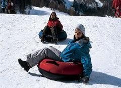 Snowtubing im Saastal