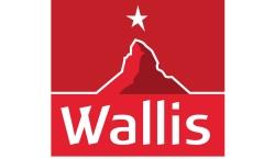Kanton Wallis mit den 4 Gemeinden des Saastals