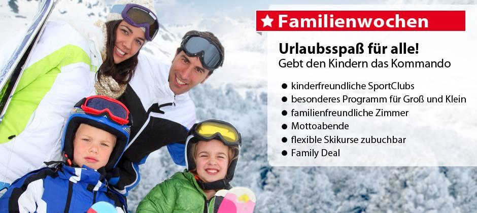 Skiurlaub mit der ganzen Familie